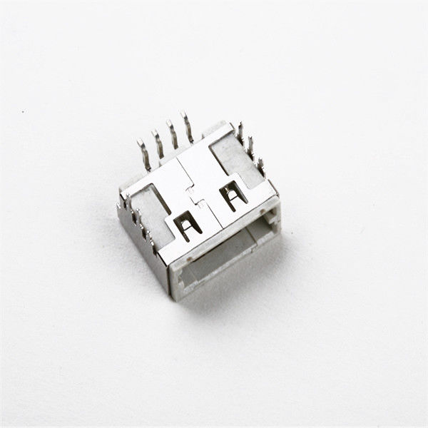 Mirco Car Usb Mini B Connector , Copper Alloy Usb Circuit Board Connector