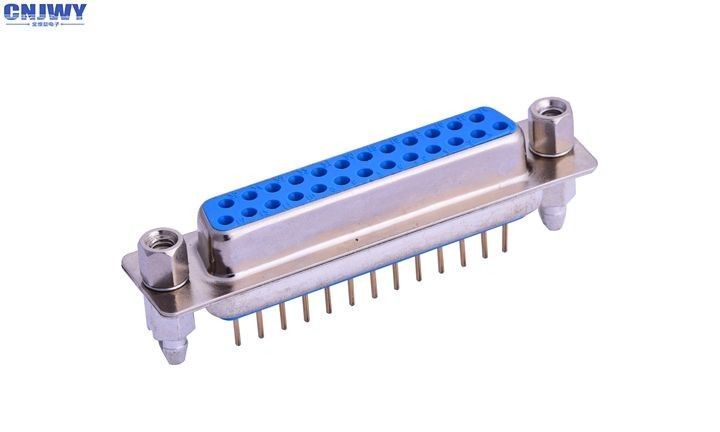 VGA Socket 25 PIN D Sub Connector 1000M Omega Min Insulation Resistance